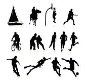 Silhouettes represents different active hobbies. For active people :).