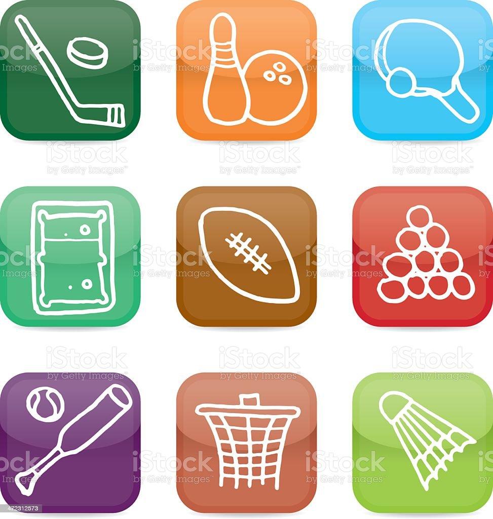 Sports icon blocks royalty-free stock vector art
