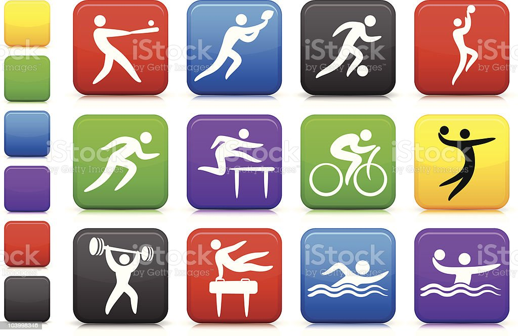 sports icon collection royalty-free stock vector art