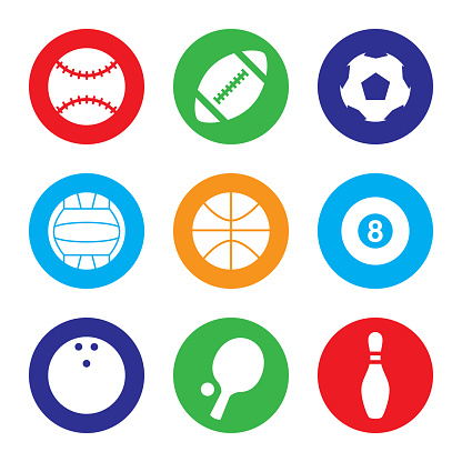 Sports Icon Set Colorful
