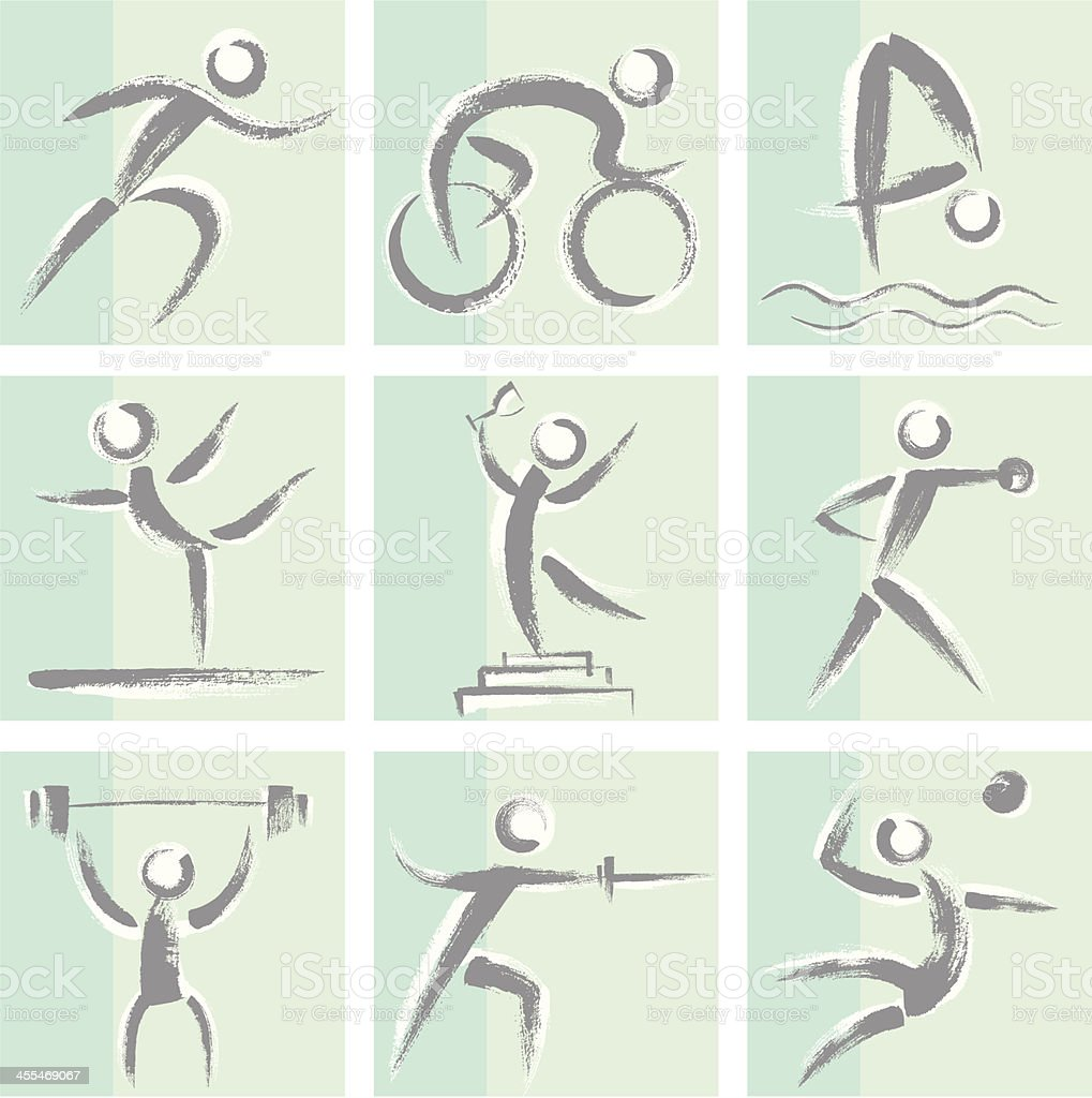 Sports Icon Set royalty-free sports icon set stock vector art & more images of activity