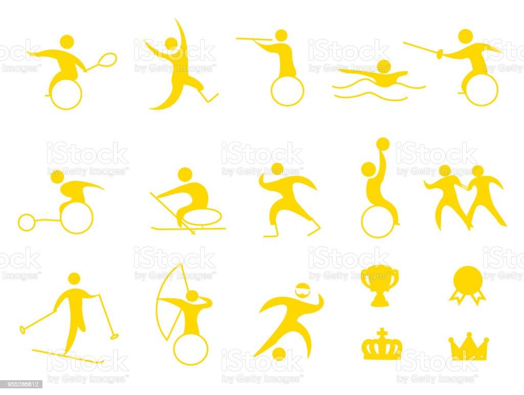 sports icon vector art illustration