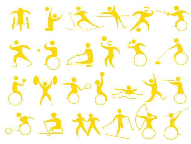 sports icon – artystyczna grafika wektorowa