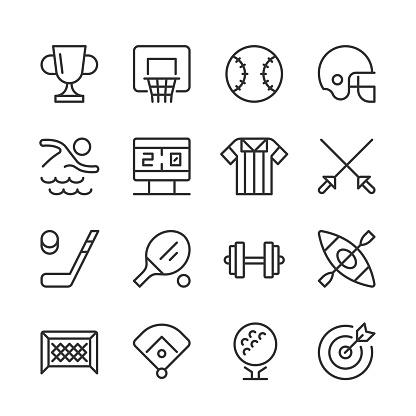 Sports Icons 2 — Monoline Series