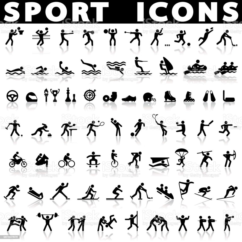 Sports Icons And Sports Symbols Stock Vector Art More Images Of