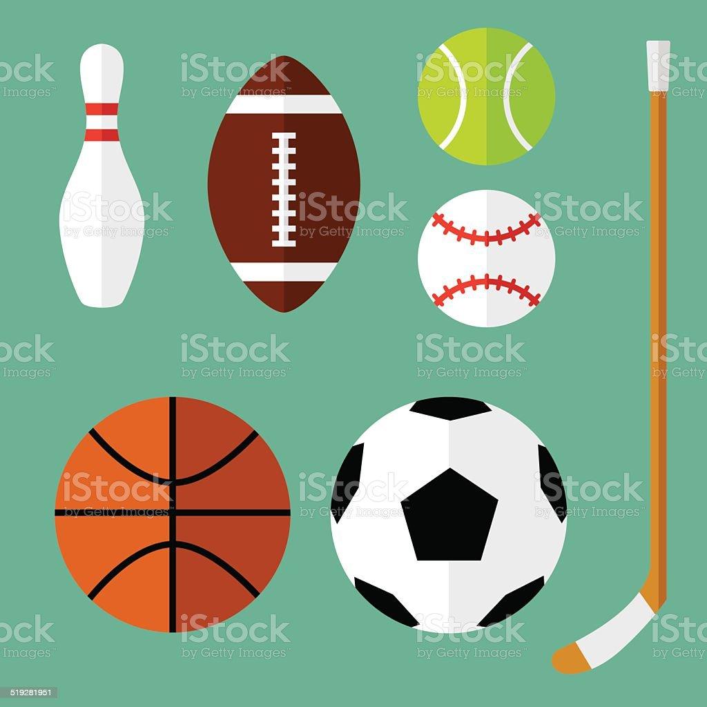 Спорт Иконки Плоский 1 - Векторная графика Bowling Pin роялти-фри