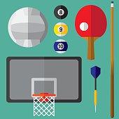 Sports Icons Flat 3