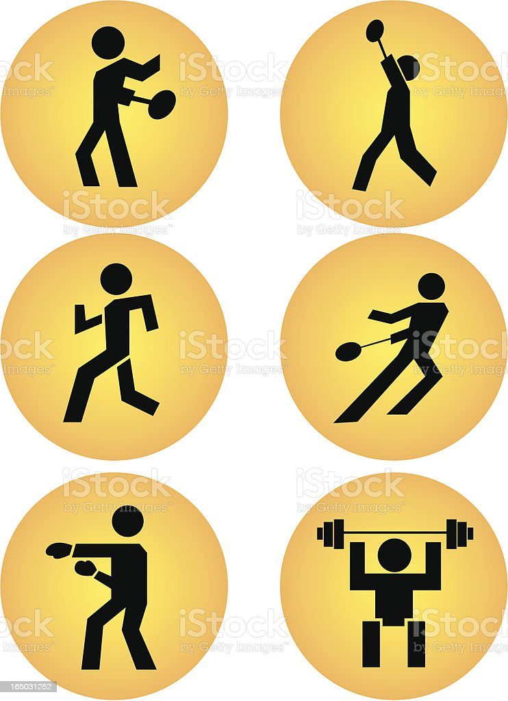 sports icons part 2 royalty-free stock vector art