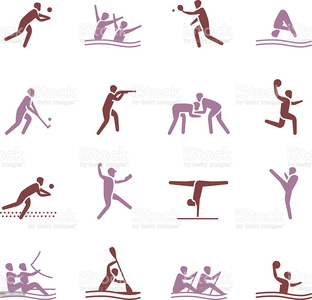 Sports Icons | set 2 - Color Series royalty-free stock vector art