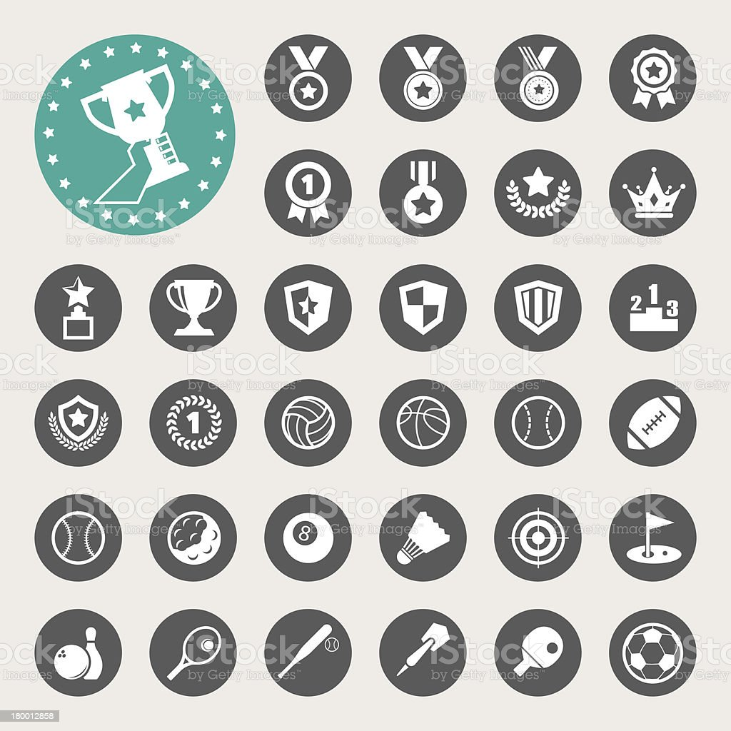 Sports Icons set. royalty-free stock vector art