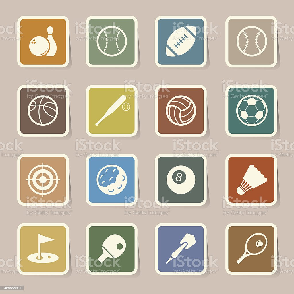 Sports Icons set. royalty-free sports icons set stock vector art & more images of archery