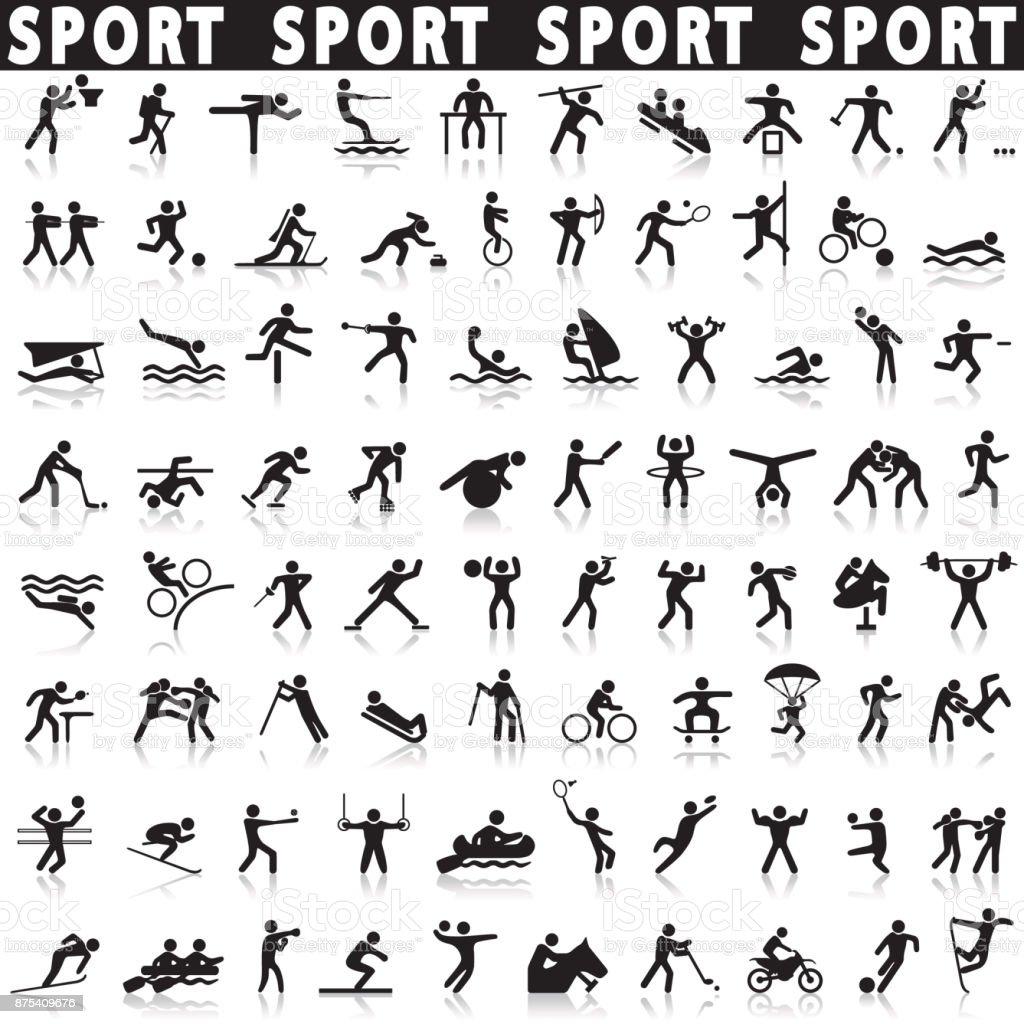 スポーツのアイコンを設定します。 ベクターアートイラスト