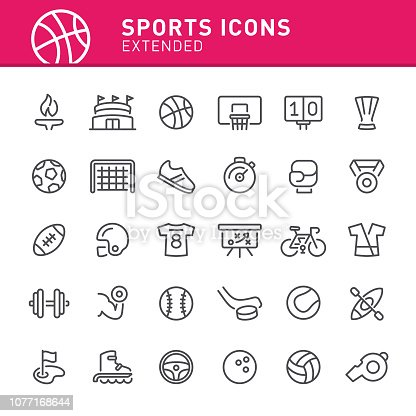 Sport, basketball, icon, icon set, Olympics, soccer, stadium, sports equipment