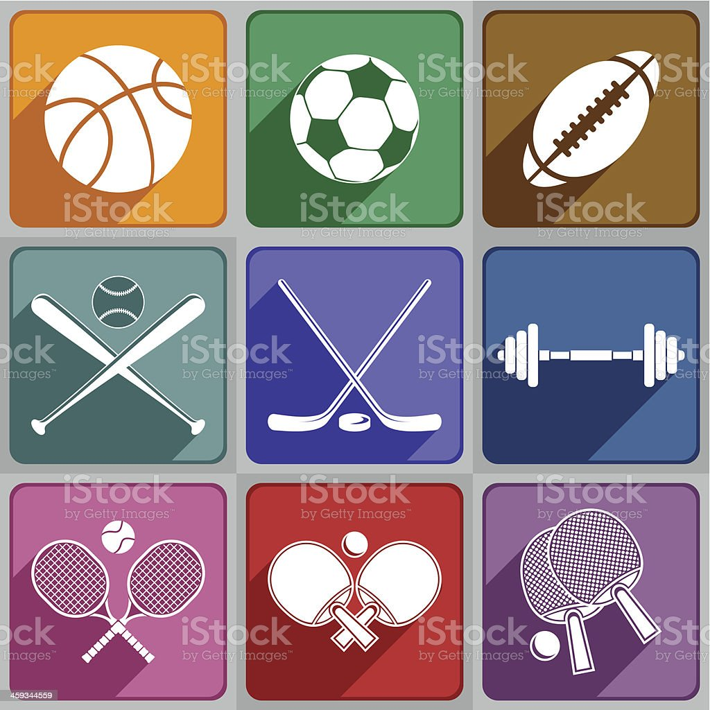 Sports icons royalty-free stock vector art