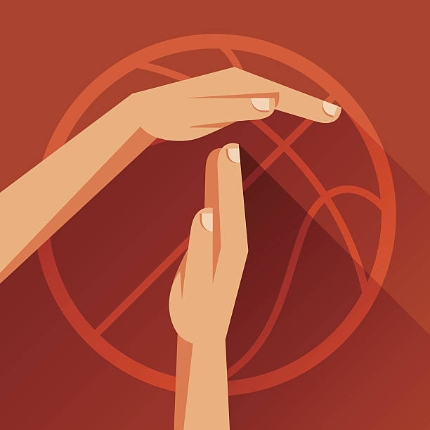 Sports illustration with basketball gesture sign timeout. Sports illustration with basketball gesture sign timeout. resting stock illustrations