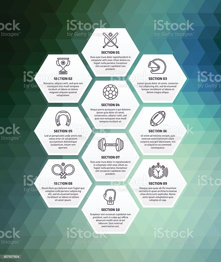 Sports Infographic Abstract Background vector art illustration
