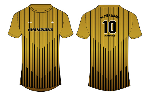 Sports jersey  t-shirt design vector template, sports jersey concept with front and back view for Soccer, Cricket, Football, Volleyball, Rugby. 2012-13 Bradford City football jersey concept.