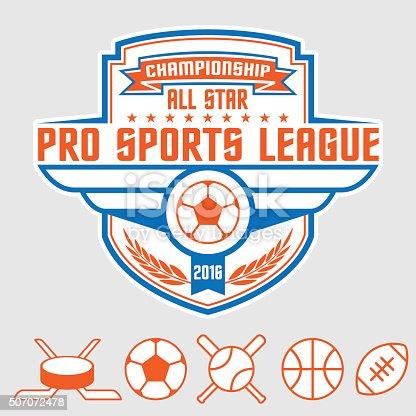 istock Sports logo emblem and icons elements 507072478