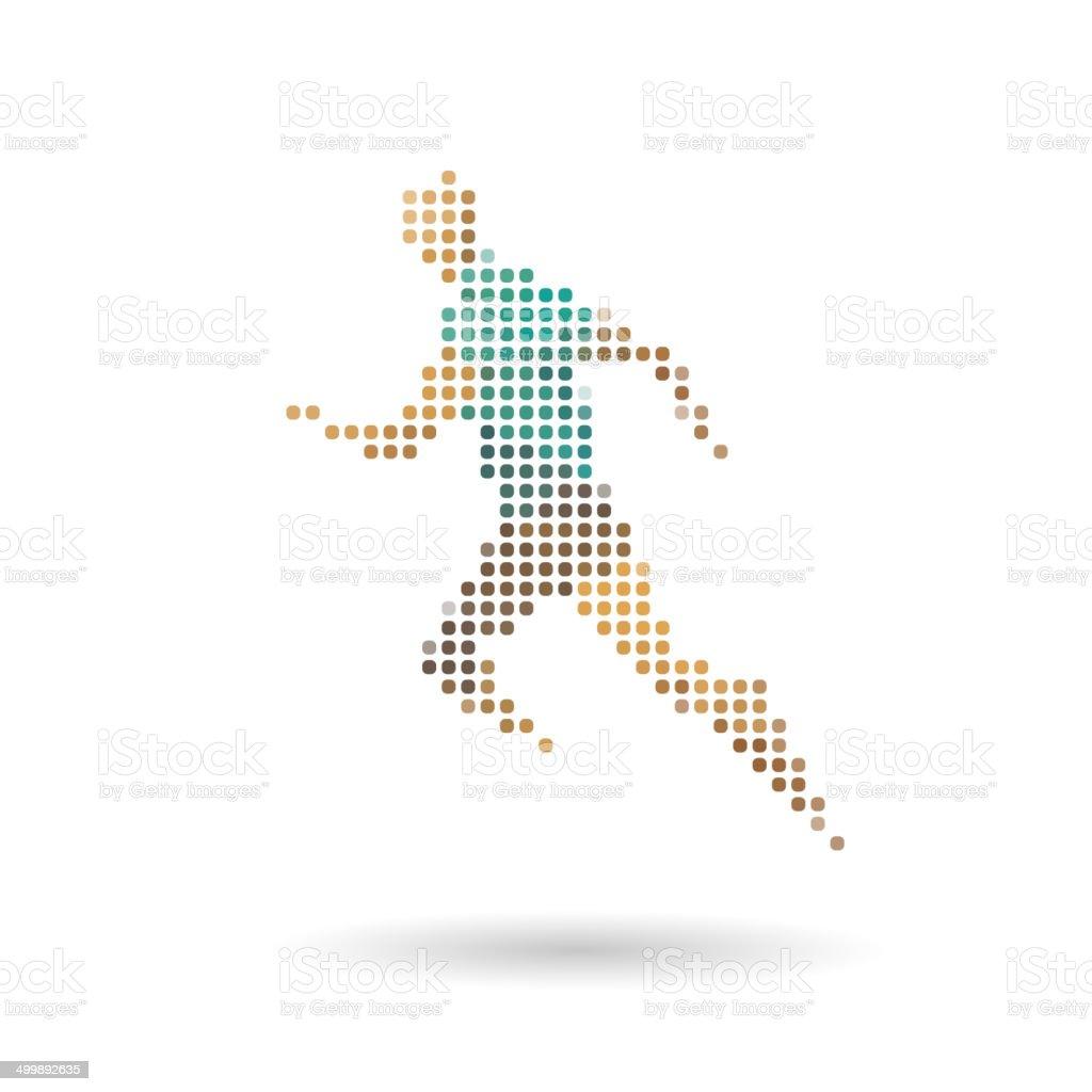 スポーツランナー抽象的な背景白で分離 のイラスト素材 499892635 | istock