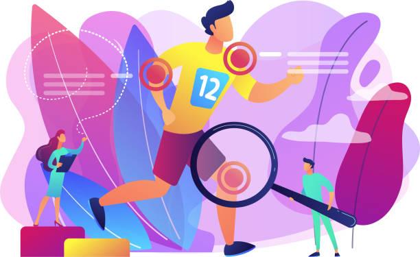 ilustraciones, imágenes clip art, dibujos animados e iconos de stock de concepto de la medicina deportiva ilustración vectorial. - medicina del deporte