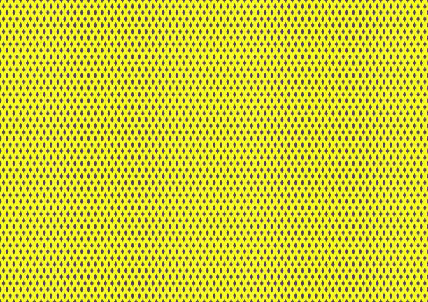 stockillustraties, clipart, cartoons en iconen met sport netto textiel driehoek gele kleur 01 - maaswerk