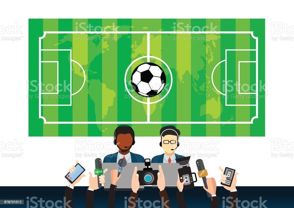 royalty free sports journalism clip art vector images rh istockphoto com Journalism Symbol Donut Clip Art