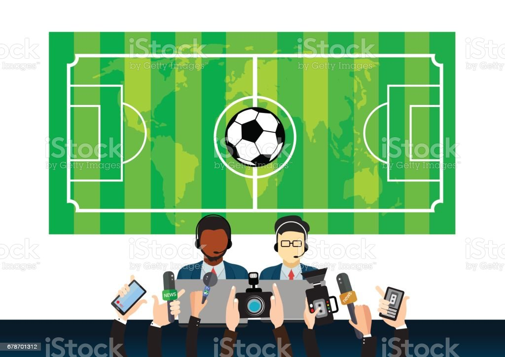 sports news design, illustration vector art illustration