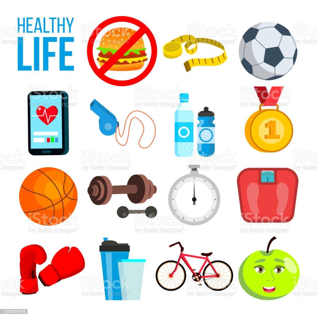 Ilustración De Concepto De Nutrición De Deportes Vitaminas