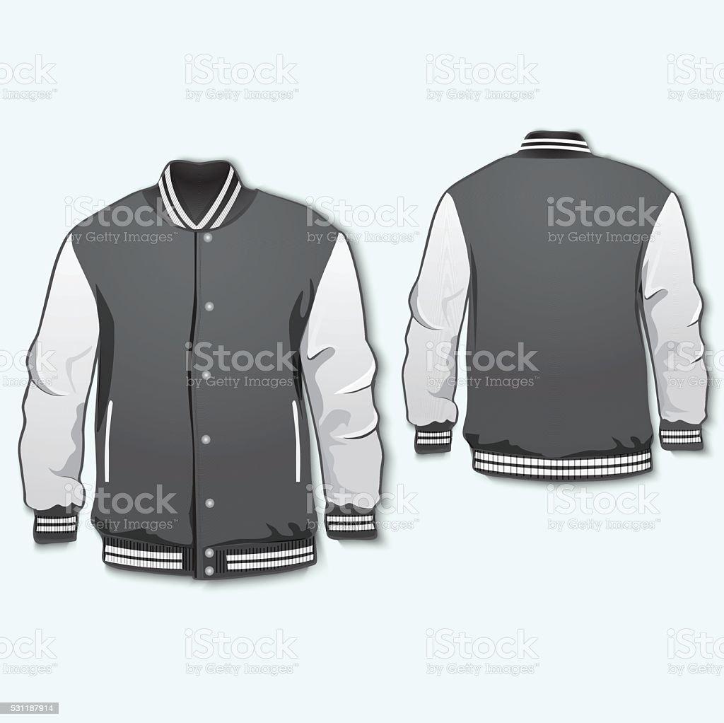 royalty free varsity jacket clip art vector images illustrations rh istockphoto com jean jacket clipart straight jacket clipart