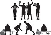 Sports people in various actions