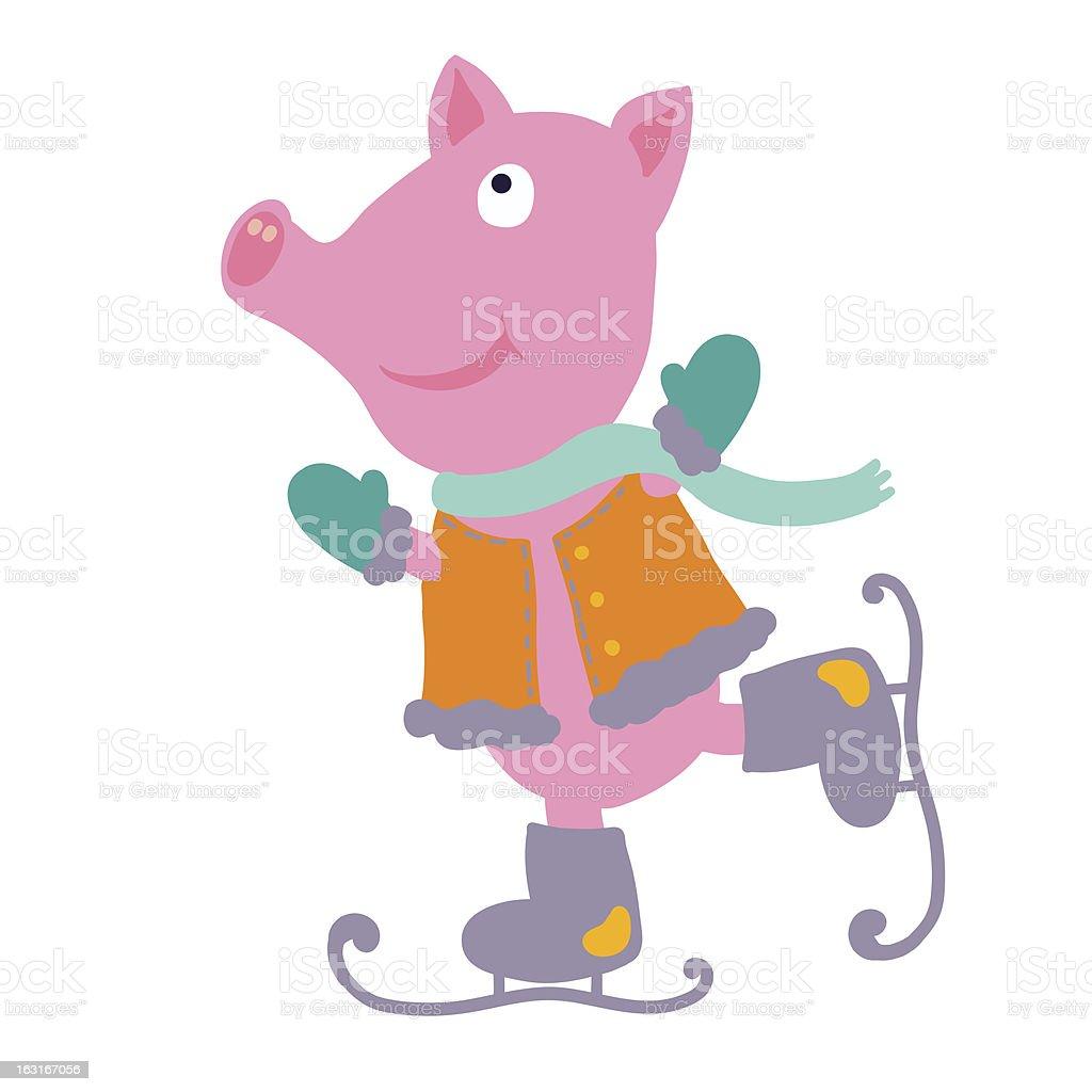 Sports pig royalty-free stock vector art
