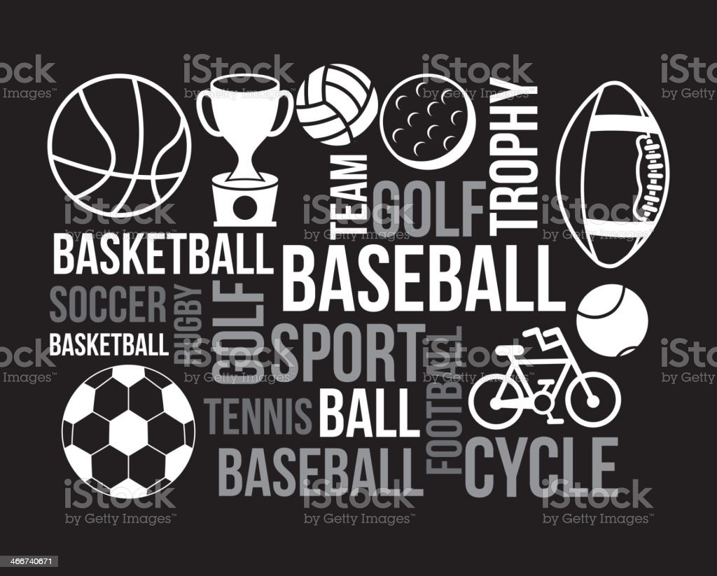 Sports Poster vector art illustration