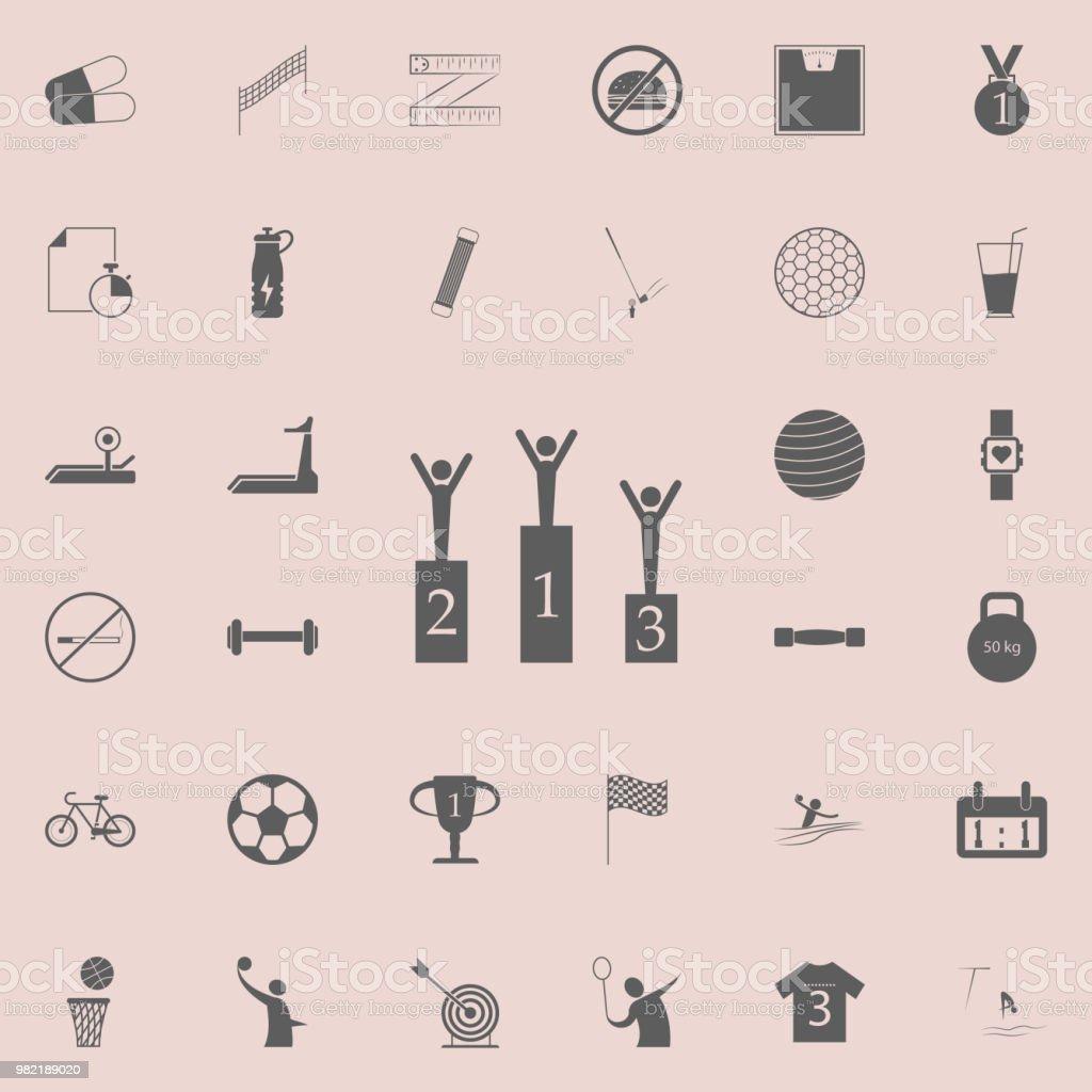 86b97a400 ícone de vencedores de esportes. Detalhadas de conjunto de ícones do esporte.  Sinal de