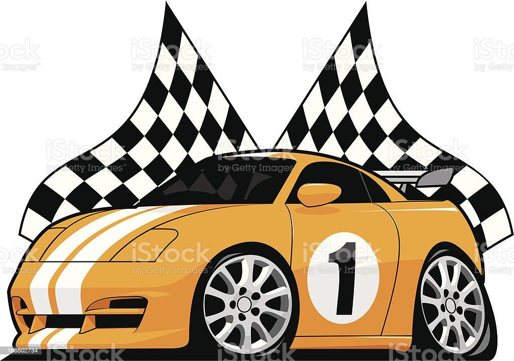 Sports Racer vector art illustration