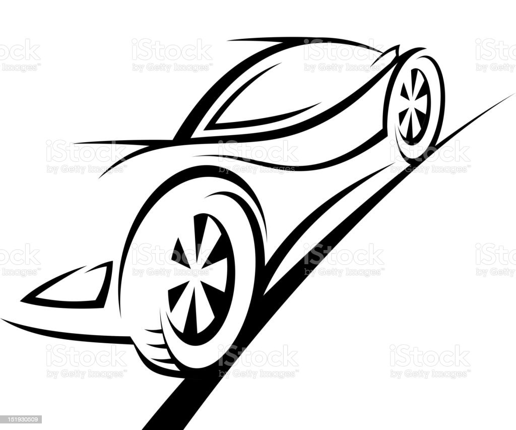 Sports racing car royalty-free stock vector art
