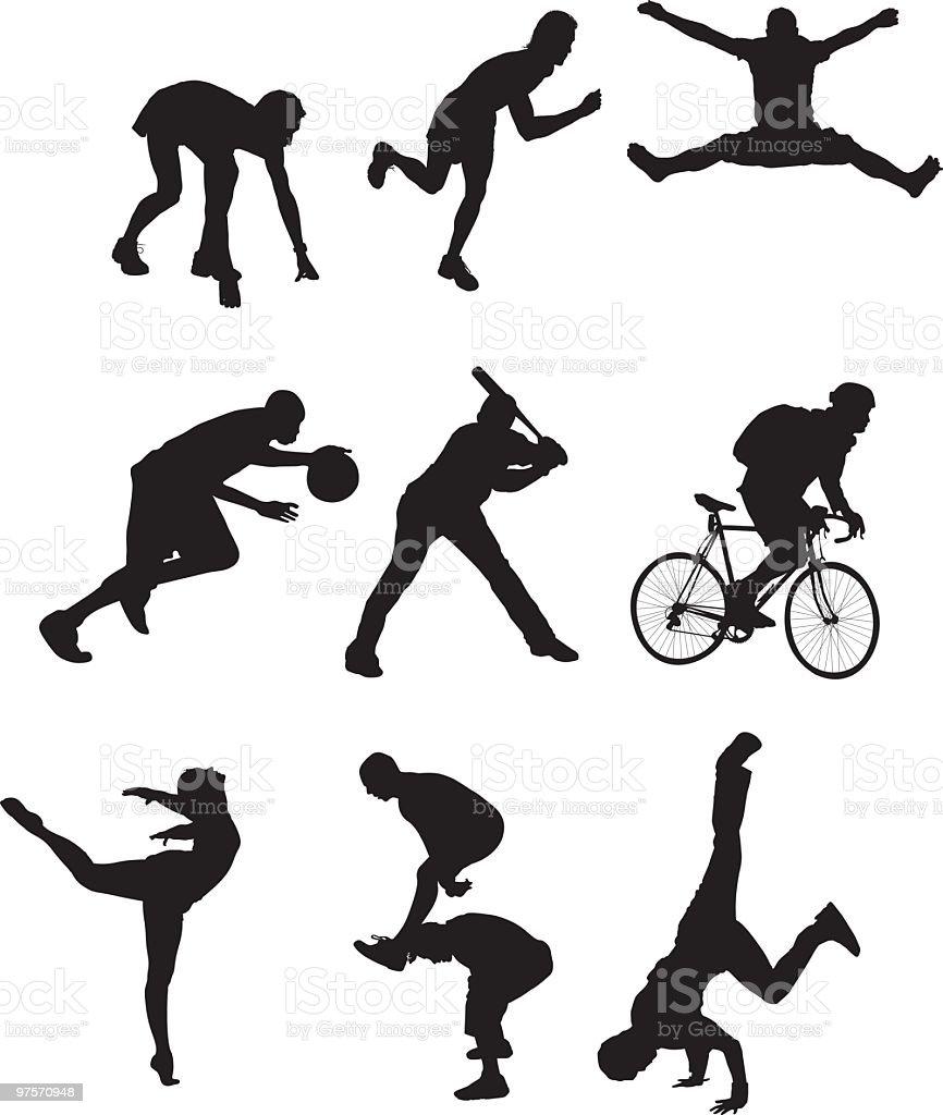 Des illustrations sport des illustrations sport – cliparts vectoriels et plus d'images de activité acrobatique libre de droits