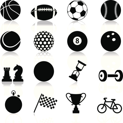 Sports related set of twelve icons