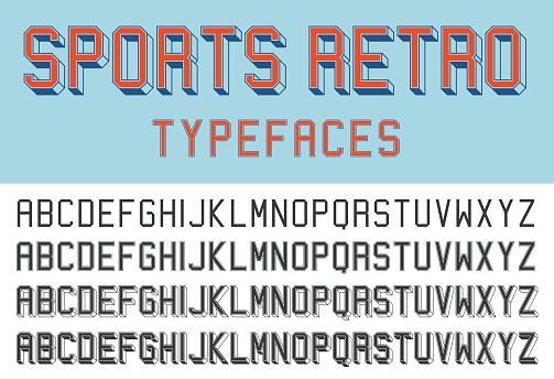 Sports retro typefaces