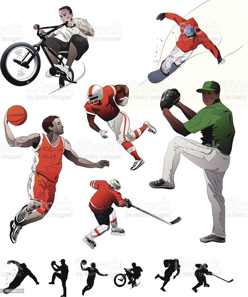 Sports Set royalty-free stock vector art