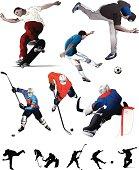 Sports Set, Vector illustrations