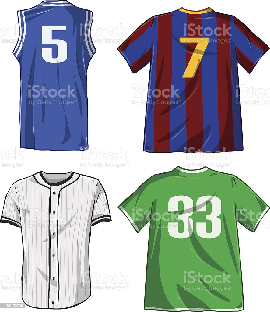 Sports Shirts Pack vector art illustration