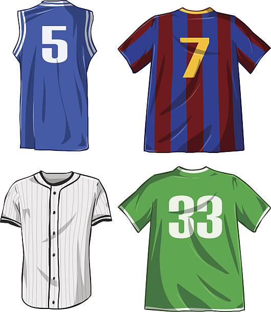 Sports Shirts Pack vector art illustration