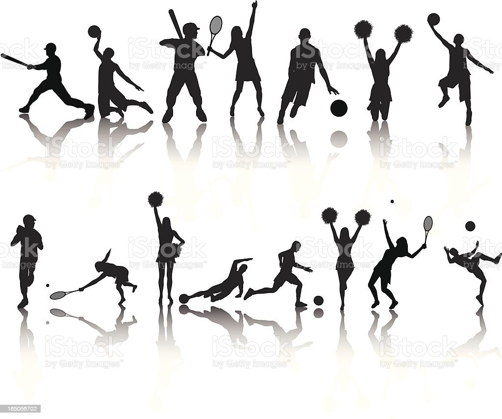 Sports Silhouette Collection royalty-free stock vector art