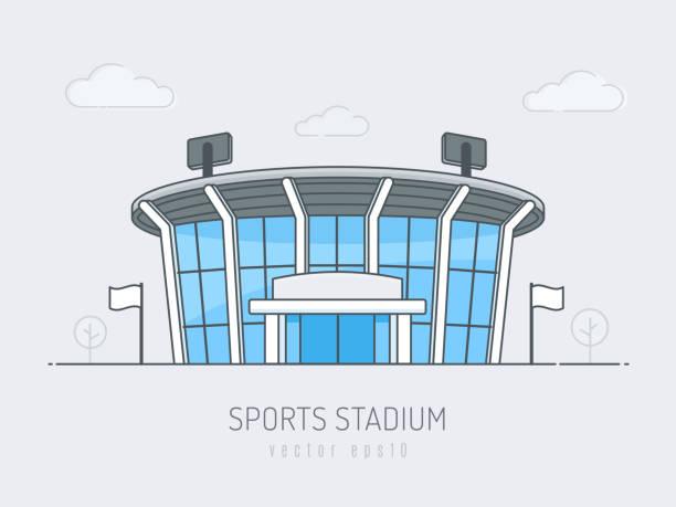 スポーツスタジアム - スタジアム点のイラスト素材/クリップアート素材/マンガ素材/アイコン素材