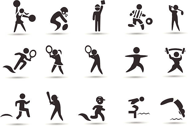 Dynamic Sports Figures Silhouette: Best Women Golf Illustrations, Royalty-Free Vector
