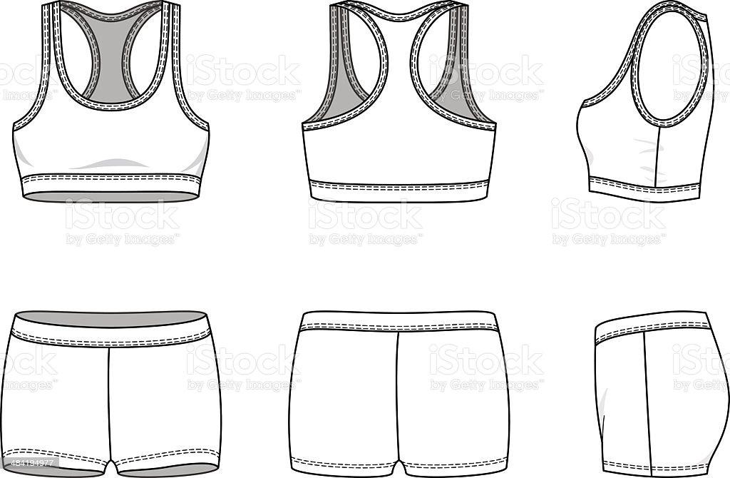 Sports suit vector art illustration