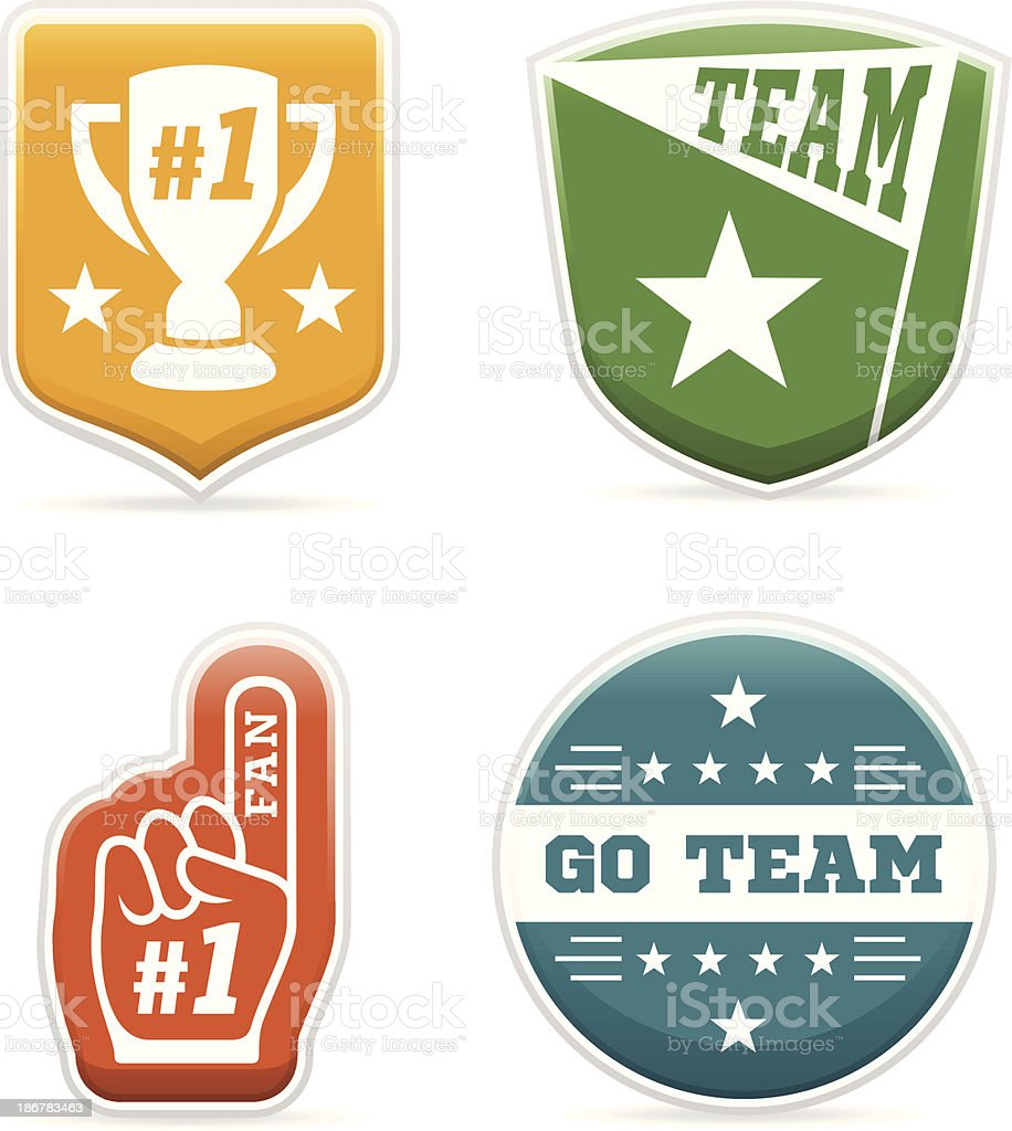 Sports Team Badges royalty-free sports team badges stock vector art & more images of award