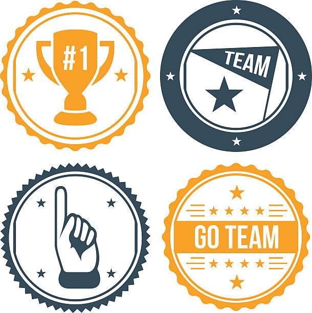 Sports Team Badges vector art illustration