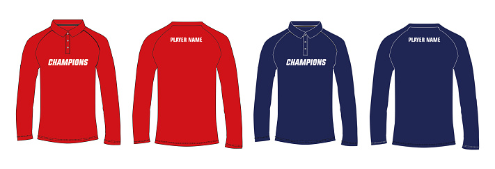 Sports t-shirt jersey design vector template, sports jersey concept with front and back view for Soccer jersey, Cricket jersey, Football jersey, Volleyball jersey, Rugby Jersey. Uniform design for Umpire and referee