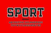 Sports uniform style font